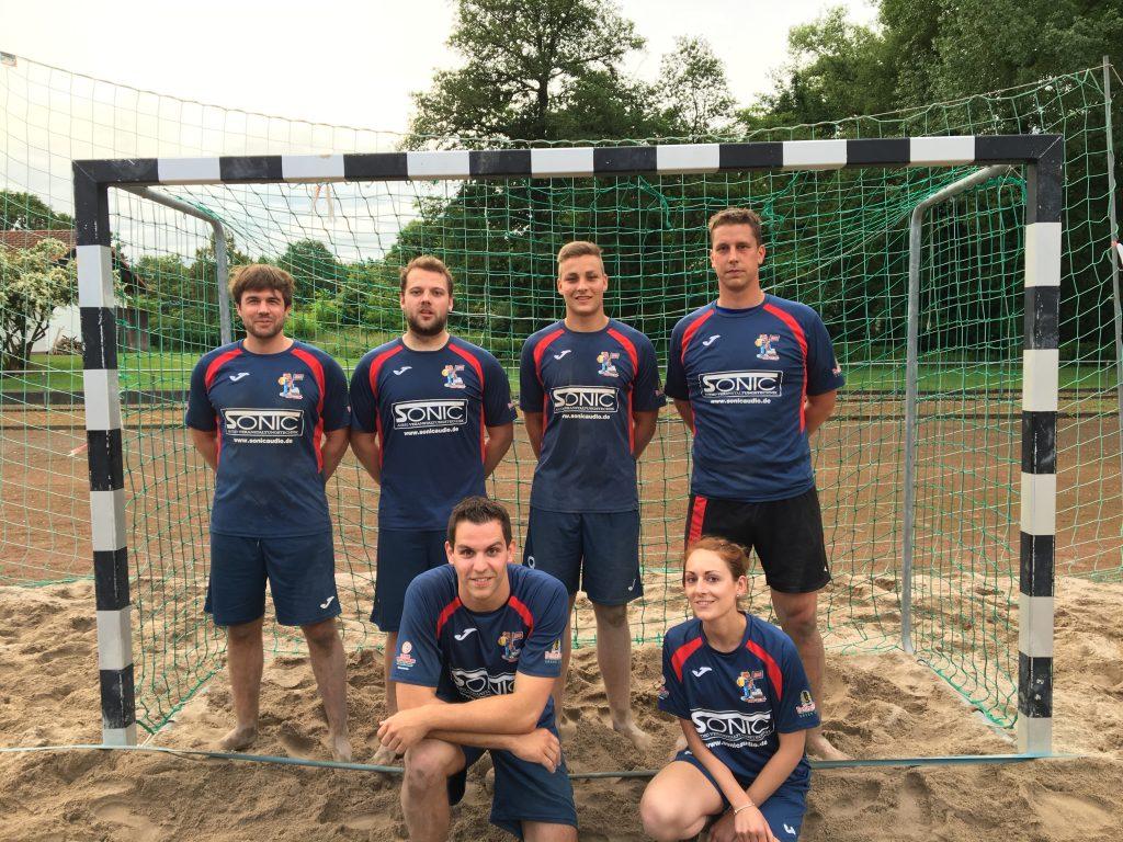 Beachhandball spieler ottersheim