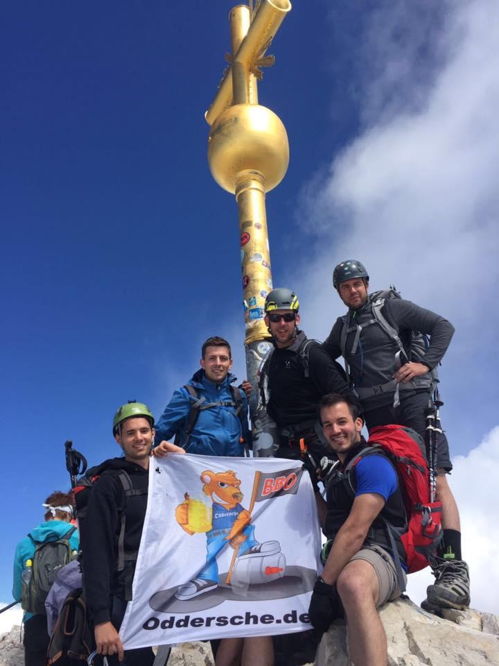 Bergtour 2016 Gipfelfoto