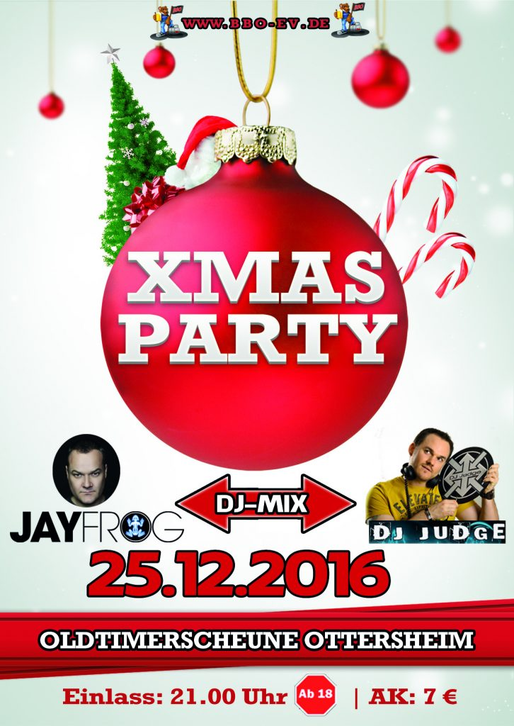 Flyer Xmas Party Ottersheim 2016
